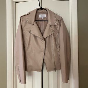 Blush vegan jacket.